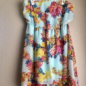 Strapless High low cocktail dress